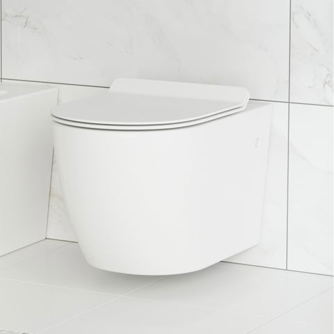 Swiss Madison Sublime Wall Hung Toilet Bowl, White