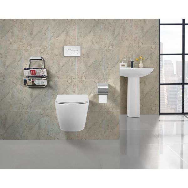 St Tropez Wall Hung Toilet Bowl White Free Shipping