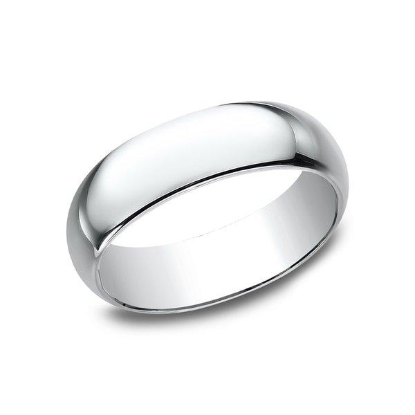 Menx27s 10k White Gold 7mm Traditional Fit Wedding Band