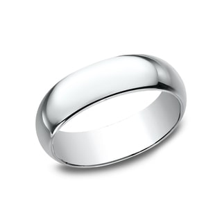 Men's 10k White Gold 7mm Traditional-fit Wedding Band