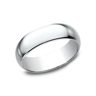 10k White Gold 7-millimeter Women's Traditional-fit Wedding Band