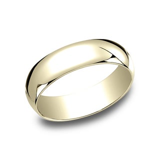 Men's 10k Yellow Gold 6-millimeter Traditional Fit Wedding Band - 10K Yellow Gold