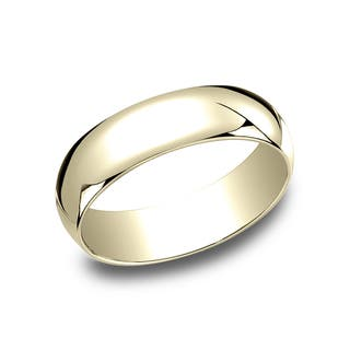 Men S 10k Yellow Gold 6 Millimeter Traditional Fit Wedding Band