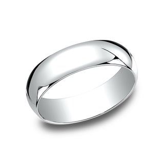 Women's 10k White Gold 6-millimeter Traditional Fit Wedding Band