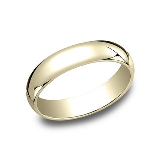 Men's 10K Yellow Gold Traditional-fit Wedding Band