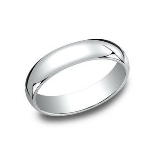 Men's 10k White Gold 5-millimeter Traditional Fit Wedding Band