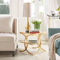 Madison Park Jace Glam Gold End Table