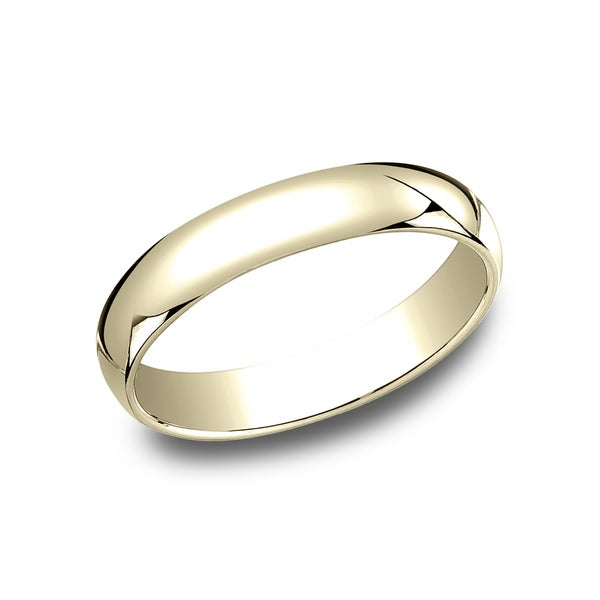 Menx27s 10K Yellow Gold Traditional Fit Wedding Band