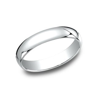 Men's 10k White Gold Traditional-fit 4-millimeter Wedding Band