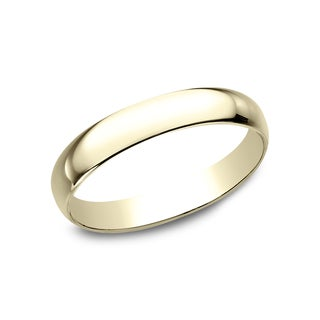 Men's 10k Yellow Gold 3-millimeter Traditonal-fit Wedding Band