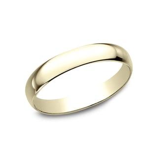 Men's 10k Yellow Gold 3-millimeter Traditonal-fit Wedding Band