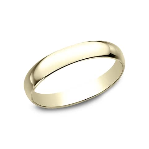 10k Yellow Gold 3-millimeter Traditional Fit Wedding Band - 10K Yellow Gold - 10K Yellow Gold
