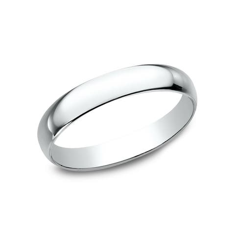 Women's 10K White Gold Traditional-fit Wedding Band - 10K White Gold