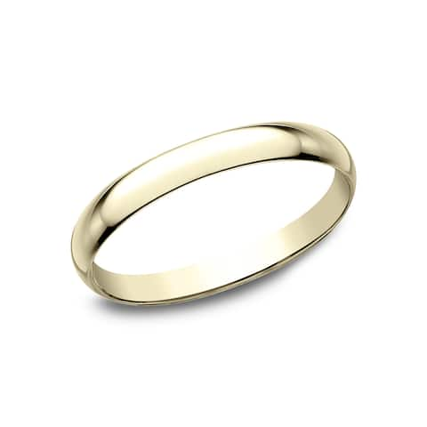 10k Yellow Gold 2-millimeter Traditional-fit Wedding Band - 10K Yellow Gold - 10K Yellow Gold