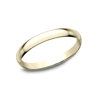 Ladies' 10k Yellow Gold 2-millimeter Traditional-fit Wedding Band - 10K Yellow Gold