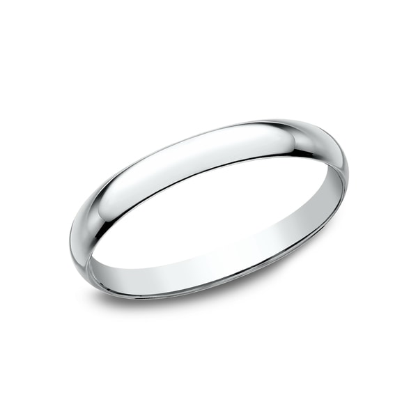 Women's 10K White Gold Traditional Fit Wedding Band