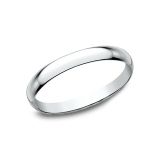 Women's 10K White Gold Traditional Fit Wedding Band - 10K White Gold