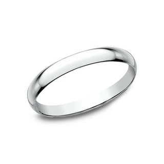 Womenu0027s 10K White Gold Traditional Fit Wedding Band