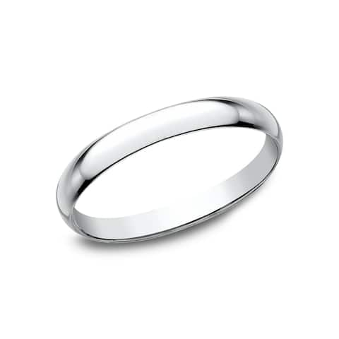 Women's 10K White Gold Traditional Fit Wedding Band - 10K White Gold - 10K White Gold