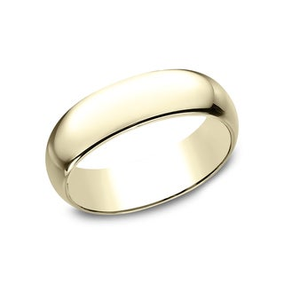 Men's 14k Yellow Gold 7-millimeter Traditional Fit Wedding Band (More options available)