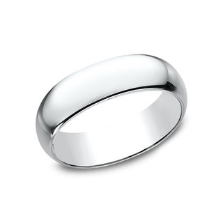 Women's 14k White Gold 7-millimeter Traditional Fit Wedding Band