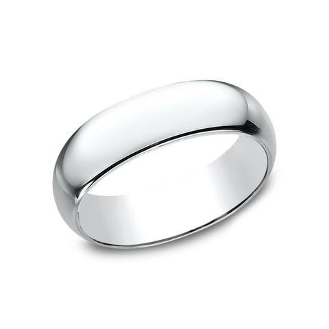 Women's 7mm 14k White Gold Traditional Wedding Band - 14K White gold - 14K White gold