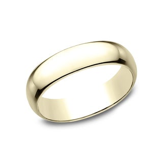 Men's 14k Yellow Gold 6 mmTraditional Fit Wedding Band