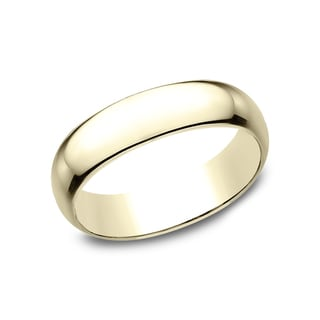 14K Yellow Gold Traditional-fit Wedding Band