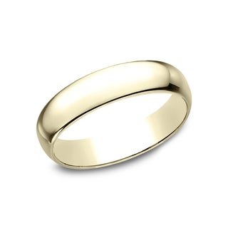 Men's 14k Yellow Gold 5-millimeter Traditional Fit Wedding Band