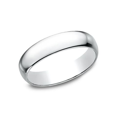 Women's 14k White Gold 5mm Traditional-fit Wedding Band - 14K White gold