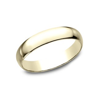 Men's 14k Yellow Gold 4-millimeter Traditional Fit Wedding Band