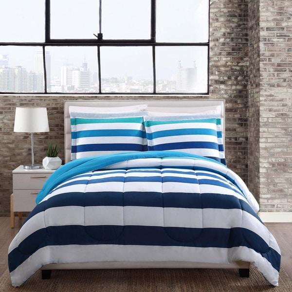 Style 212 Montauk Blue Stripe Comforter Set