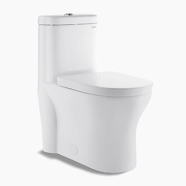 Swiss Madison Monaco Dual Flush 0.8/1.28 GPF 1-piece Elongated Toilet - White