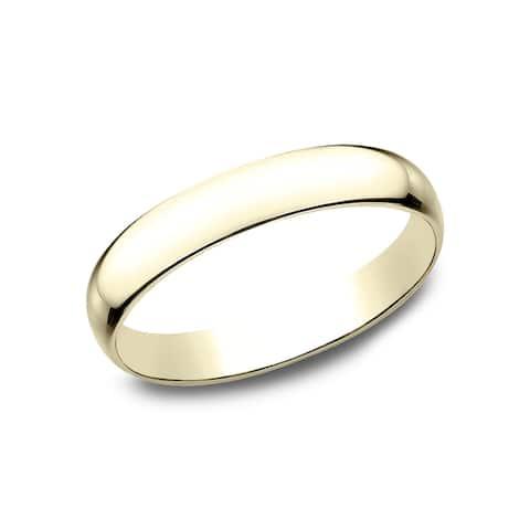 14k Yellow Gold 3-millimeter Traditional Wedding Band - 14k Yellow Gold - 14k Yellow Gold