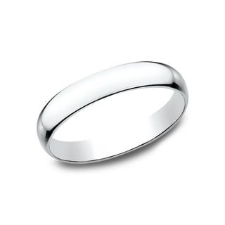 Mens 14k White Gold 3-millimeter Traditional Fit Wedding Band