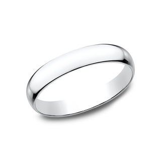 Women's 14k White Gold 3mm Traditional-fit Wedding Band