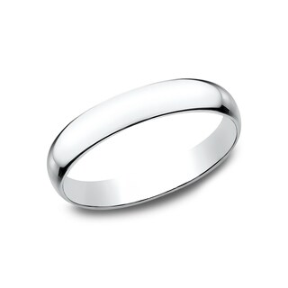 Women's 14k White Gold 3mm Traditional-fit Wedding Band - 14K White Gold