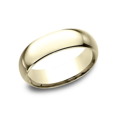 Women's 14k Yellow Gold Midweight Comfort-fit 7mm Wedding Band - 14k Yellow Gold - 14k Yellow Gold