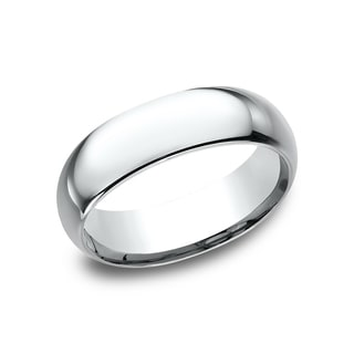 Women's 14k White Gold Midweight Comfort-fit 7mm Wedding Band
