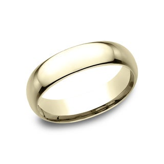 14k Yellow Gold 6-millimeter Men's Comfort-fit Wedding Band