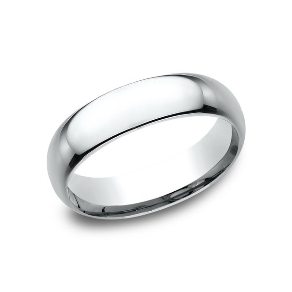 Menx27s 14k White Gold Midweight Comfort Fit 6mm Wedding Band