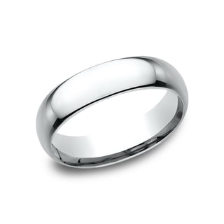 Men's 14k White Gold Midweight Comfort-fit 6mm Wedding Band