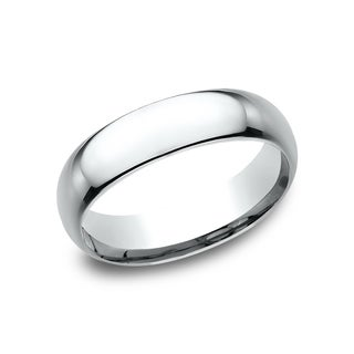 Women's 14k White Gold Midweight Comfort-fit 6mm Wedding Band - 14K White Gold