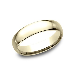 Mens 14k Yellow Gold Midweight Comfort-fit 5mm Wedding Band - 14k Yellow Gold