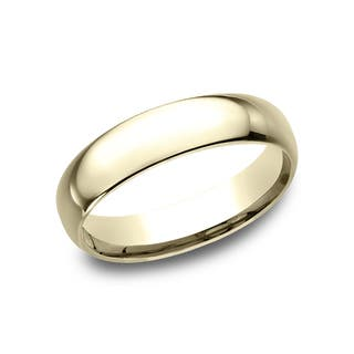 Yellow wedding rings for less overstock mens 14k yellow gold midweight comfort fit 5mm wedding band junglespirit Choice Image