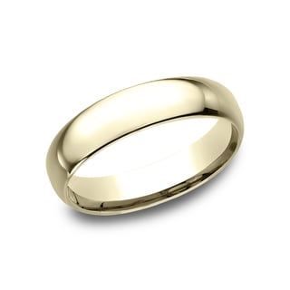 Mens 14k Yellow Gold Midweight Comfort Fit 5mm Wedding Band