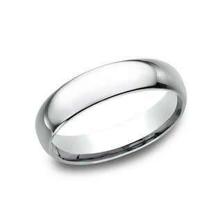 Women's 14k White Gold Midweight Comfort-fit 5mm Wedding Band - 14K White Gold