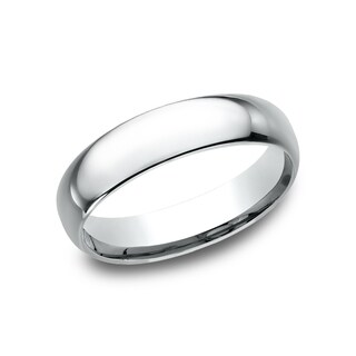 Men's 14k White Gold Midweight Comfort-fit 5mm Wedding Band