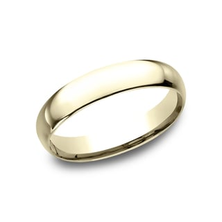 Men's 14k Yellow Gold Midweight Comfort-fit 4mm Wedding Band