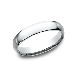 Men's 14k White Gold Midweight Comfort-fit 4mm Wedding Band